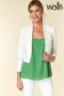 Wallis Ivory Cropped Bolero Jacket