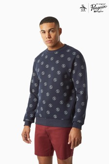 Original Penguin® All Over Stamp Logo Crew Neck Sweatshirt