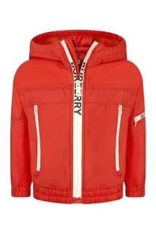 Burberry Kids Girls Red Jacket