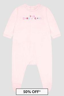 Marc Jacobs Baby Boys Pink Cotton Babygrow