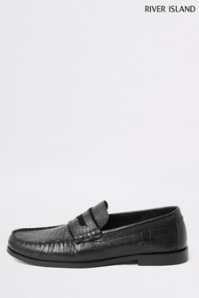 River Island Timone Croc Loafers