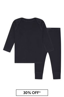 Bonpoint Baby Boys Navy Cotton Outfit
