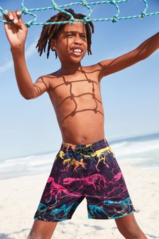 Dino Skeletons Swim Shorts (3-16yrs)