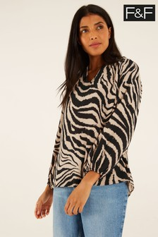 F&F Brown Zebra Top