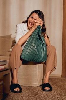 Pleated Hobo Bag