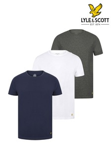 Lyle & Scott Navy Lounge T-Shirts Three Pack