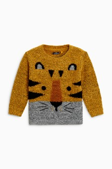 Bouclé Tiger Jumper (3mths-6yrs)