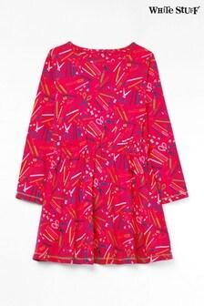 White Stuff Pink Kids Stationary Jersey Dress