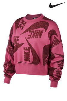 Nike Icon All Over Print Fleece Crew Sweater