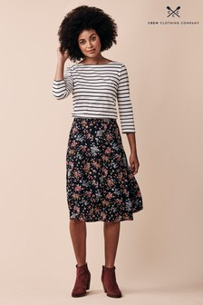 Crew Clothing Company Black Fliss Skirt