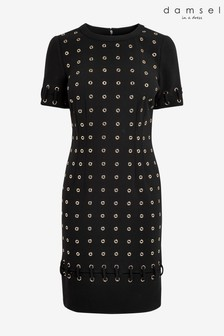Damsel In A Dress Black Evlin Eyelet Dress