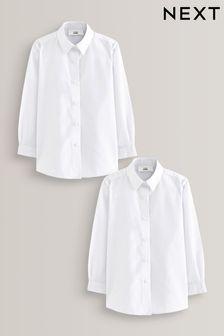 Набор из двух строгих блузок с длинными рукавами (3-16 лет)