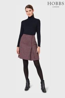 Hobbs Pink Avery Kick Pleat Skirt