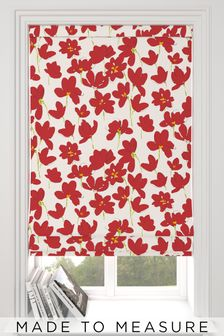 Floris Red Made to Measure Roman Blind
