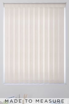 Room Darkening Taupe Natural Made To Measure Vertical Blind