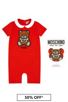Baby Red Cotton Romper