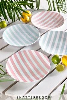 Set of 4 Melamine Set of 4 Side Plates