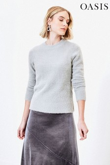 Oasis Grey Eyelash Sparkle Jumper