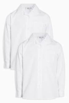 Lot de deux chemises à longues manches et col à revers (3-16 ans)