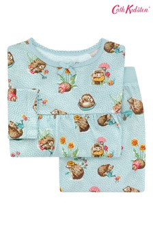 Cath Kidston Blue Kids Long Sleeve Jersey Mini Garden Club Pyjamas