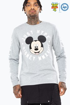 Hype. Disney™ Mickey Circle Men's Long Sleeve T-Shirt