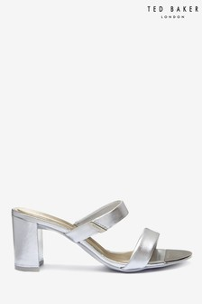 Ted Baker Silver Heeled Mules