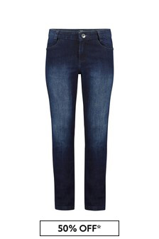 Boss Kidswear Boys Blue Cotton Jeans