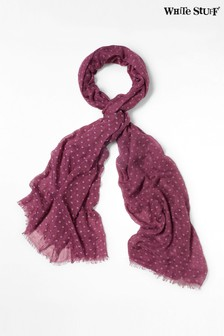 White Stuff Purple Heart Flock Dreaming Away Scarf