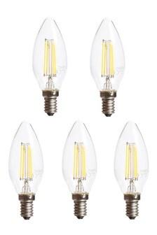 5 Pack 4W SES LED Candle Bulbs