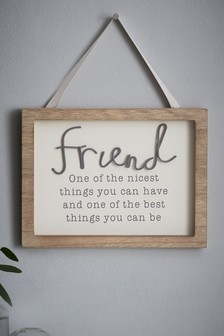 Friendship Hanging Sign