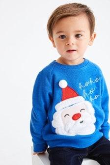 Weihnachtsmann-Sweatshirt mit Rundhalsausschnitt (3Monate bis 7Jahre)