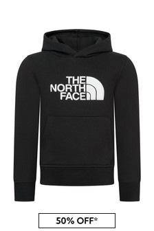 The North Face Boys Black Cotton Hoodie