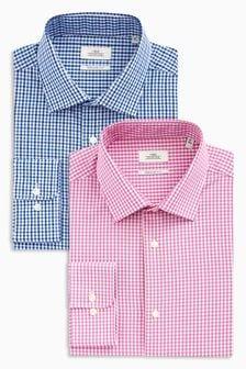 Набор рубашек классического кроя в клетку (2 шт.)