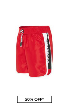 Givenchy Kids Boys Red Swim Shorts
