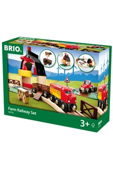BRIO World Farm Railway Set