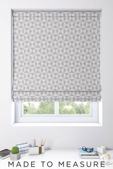 Monde Silver Grey Made To Measure Roman Blind
