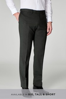 Wool Blend Textured Trousers
