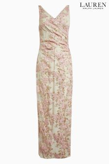 Lauren Ralph Lauren® Light Pink Mayu Floral Mesh Dress