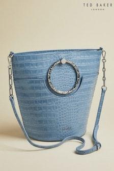 Ted Baker Maisee Exotic Beutel-Handtasche mit rundem Henkel, Blau