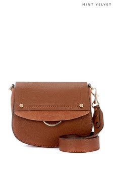 Mint Velvet Brown Blair Chestnut Saddle Bag