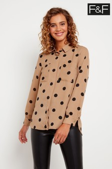 F&F Neutral Spot Blouse