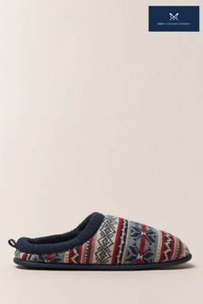 Crew Clothing Red Mule Slippers