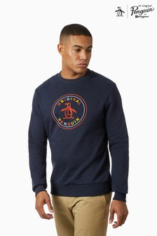 Original Penguin® Multicolour Flock Stamp Logo Crew Neck Sweatshirt