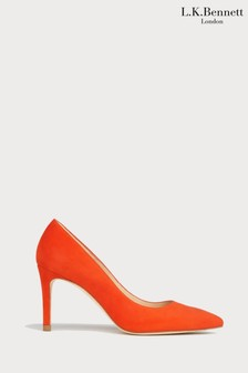 L.K.Bennett Orange Floret Pointed Toe Courts