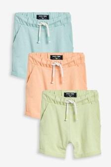 3 Pack Lightweight Pastel Shorts (3mths-7yrs)