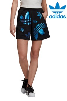 adidas Originals Black/Blue Repeat Logo Shorts