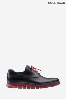Cole Haan Black Zerogrand Wing Oxford WP Lace Shoes