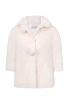 Baby Girls Ivory Faux Fur Coat