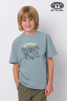 Animal Grey Chilling Graphic T-Shirt