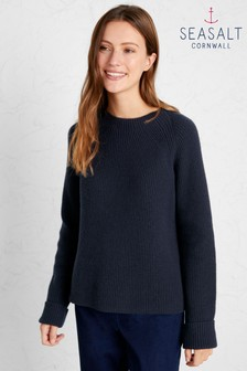 Seasalt Blue Porth Seal Jumper